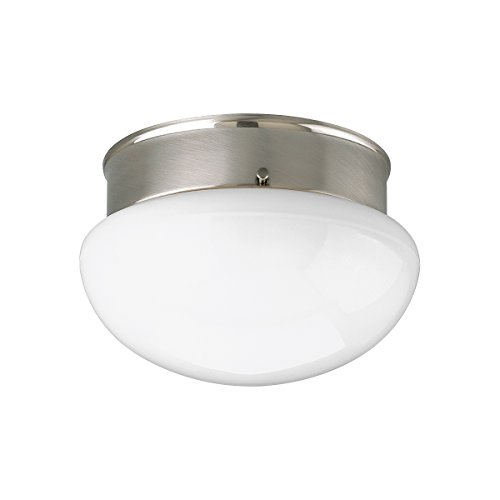 Progress Lighting P3408-09 1-Light Close-To-Ceiling Fixture, Brushed Nickel