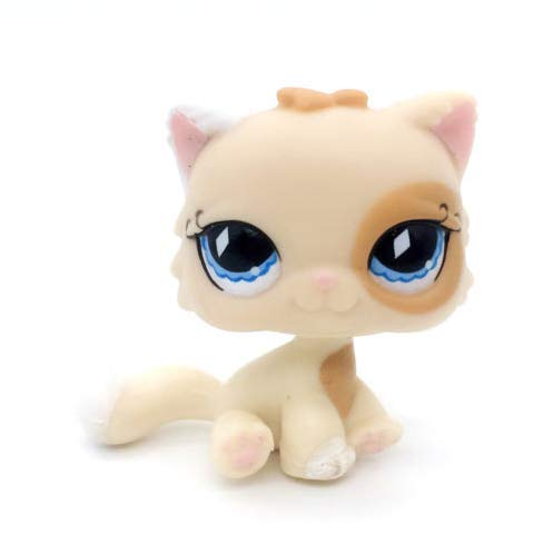 Pet Shops Littlest Cat Persian Cream and Tan Blue Diamond Eyes Kitty #521