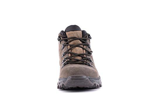 Marrone ed uomo camminata Andes da Scarponcini Leather Grigio Impermeabile TREK Genuine escursionismo PnOHxSqwFw