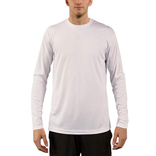 Vapor Apparel Men's UPF 50+ UV Sun Protection Performance Long Sleeve T-Shirt Medium White