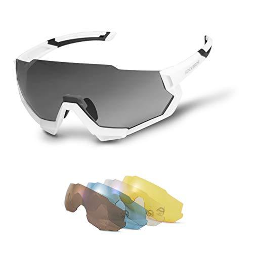 ROCK BROS Polarized Sports Sunglasses with 4 Interchangeable Lenes for Men Women