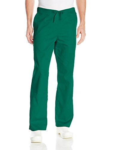 Cherokee Men's Ww Flex with Certainty Unisex Natural-Rise Drawstring Pant, Hunter, (Green Drawstring Pants)