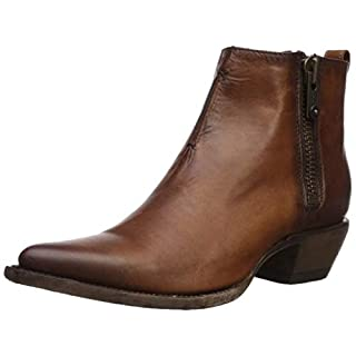 Frye Women's Sacha Moto Shortie Ankle Boot, Cognac, 11 M US