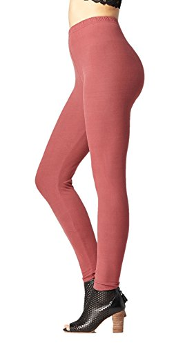 (Conceited Super Soft High Waisted Women's Leggings - Opaque Full Ankle Length - Wild Ginger - One Size (0-10) )