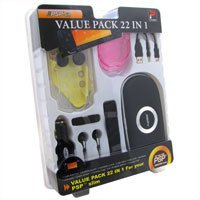 Psp Umd Carrying Case - Sony PSP Slim Protective Carrying Case UMD Case Earphones USB Cable- 22 in 1 Value Bundle Pack