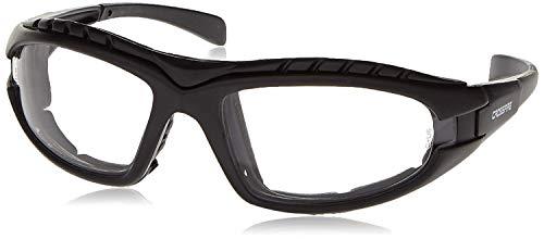 12 Pack Crossfire 2724AF Diamondback Safety Glass Clear Anit-Fog Lens - Foam Lined Matte Black Frame by Crossfire