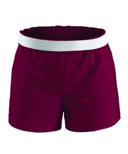 Soffe Juniors Athletic Short, Maroon, Medium
