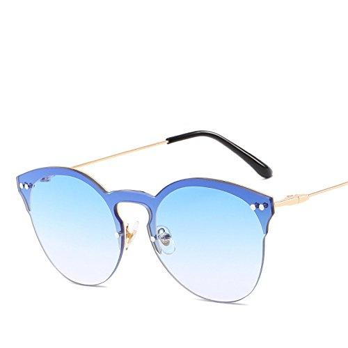 Sol Océano RinV No2 Street Uñas De Shoot NO5 De Gafas Tendencia Redondas Metal Parasol Sol Señoras Gafas Moda FPrwqxfF