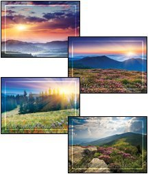 Peaceful Meadows - KJV Scripture Greeting Cards - Boxed - Get Well (Boxed Cards Well)