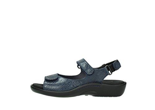 Wolky Womens 1300 Salvia Leather Sandals 70820 denim Nubukleder nHYxzK