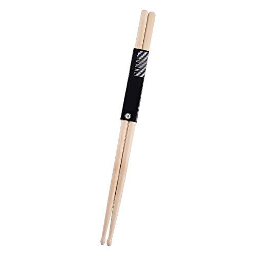 2 Pcs 5A Drum Sticks, Maple Wood Tip Drumsticks, 5A Music Band Drumsticks, Jazz Drum Sticks For Rock Band Natural (Rock Band Hit Kit)