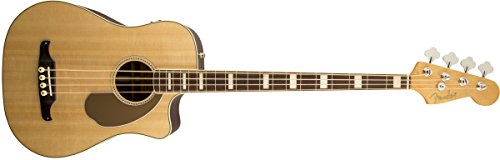 Fender Acoustic Guitars California KINGMAN BASS SCE NAT W/ Hard Case Dreadnought Acoustic Cutaway-Electric Bass with Hard-Shell Carrying Case, Natural
