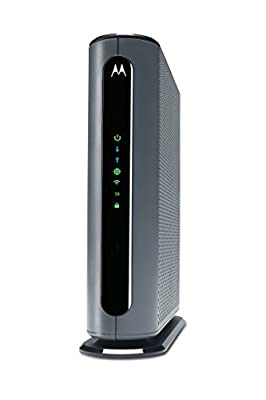 Motorola MG7700 24X8 Cable Modem plus AC1900 Dual Band Wi-Fi Gigabit Router with Power Boost, 1000 Mbps Maximum DOCSIS 3.0 - Approved by Comcast Xfinity