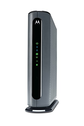Motorola MG7700 24X8 Cable Modem plus AC1900 Dual Band Wi-Fi Gigabit Router with Power Boost, 1000 Mbps Maximum DOCSIS 3.0 – Approved by Comcast Xfinity
