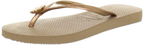 Havaianas Women's Slim Flip Flop Sandals, Crystal Poem ,Rose Gold,35/36 BR (6 M US) ()