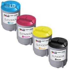 LD © 4 Compatible toners for Samsung CLP300 1 Black CLP-K...