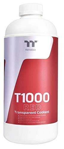 Thermaltake T1000 1000ml New Formula Red Transparent Coolant Anti-Corrosion Anti-Freeze Minimize Precipitation CL-W245-OS00RE-A (Anti Corrosion Coolant)