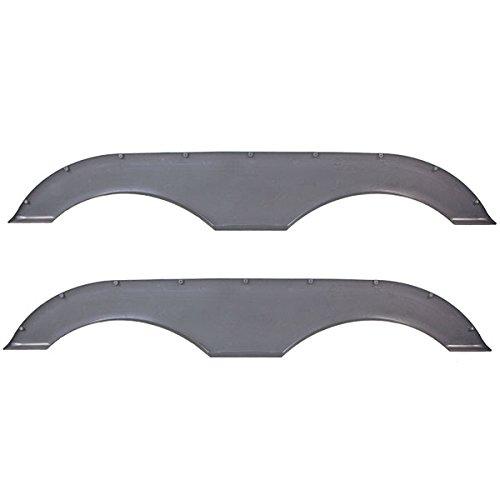 Pair of Alpha Systems Tandem Trailer Fender Skirt Gray