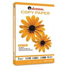 Universal Copy Paper, 92 Brightness, 20lb, 8-1/2 x 14, White, 5000 Sheets/Carton, CT - UNV24200