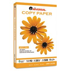 * Copy Paper, 92 Brightness, 20lb, 8-1/2 x 14, White, 5000 Sheets/Carton