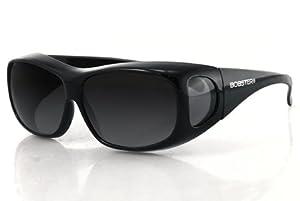 Bobster Condor Over-Prescription Sunglasses,Black Frame/Smoked Lens,one size