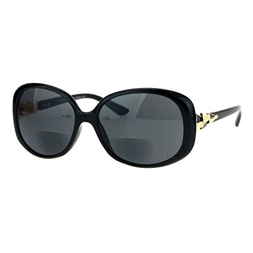 Womens Bifocal Reading Lens Butterfly Diva Fashion Sunglasses Black - Sunglasses European