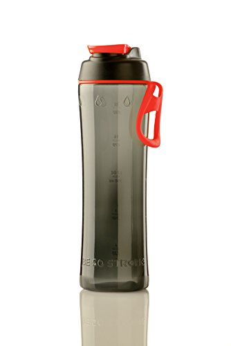 50 Strong 24 oz. Water Bottle - BPA Free Tritan with Chug Cap - Gray Black Red - Made in USA