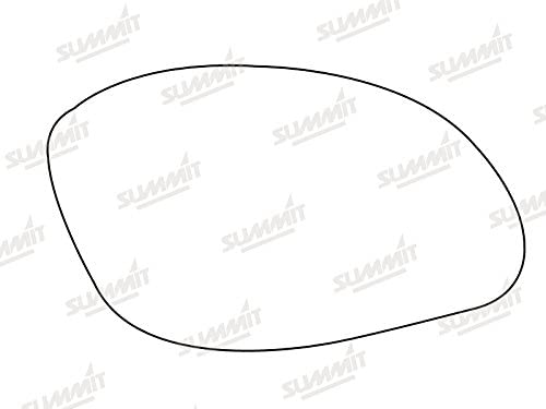 Summit Replacement Heated Mirror Glass with Backing Plate Fits on RHS of Vehicle