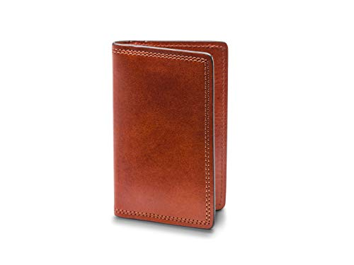 Bosca Men's Dolce Collection - Calling Card Case (One Size, Amber)