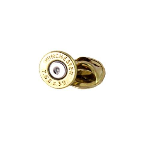 (Winchester AK 47 Brass Bullet Tie Tac-Hat Pin)
