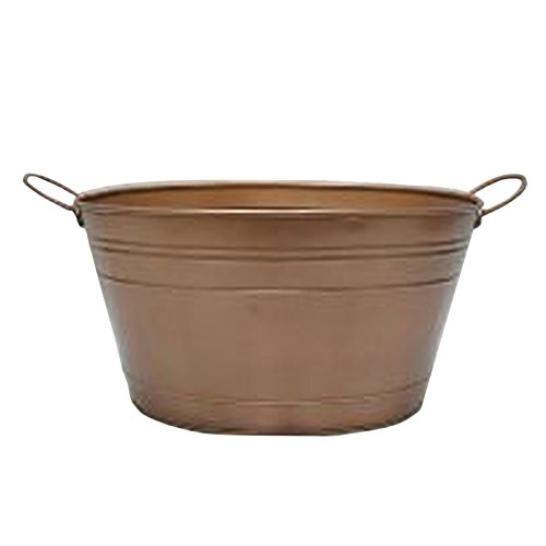 Hosley's Copper Finish Beverage Tub with Handles. 15.25 Inch. Ideal (Beverage Tub)