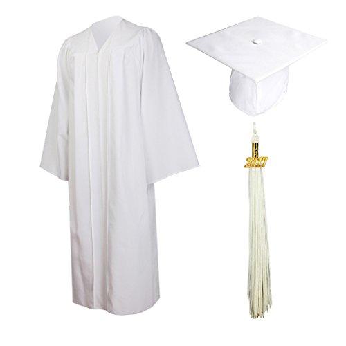 3b17cb05f8 GraduationMall Matte Graduation Gown Cap Tassel Set 2019 for High School  and Bachelor