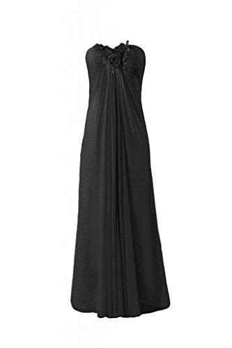 Pendants Chiffon Evening Dress Bridesmaid Long BM3262 black Beaded Dress 52 DaisyFormals a5YFXq4n4