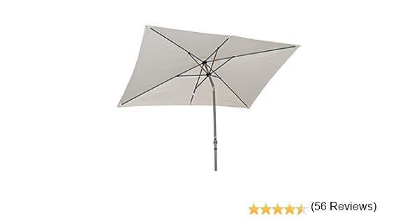 Angel Living 2x3M Sombrilla Parasol de Aluminio y Poliéster, Parasol Inclinado con Manivela, Mástil Aluminio 38mm (Crema): Amazon.es: Jardín