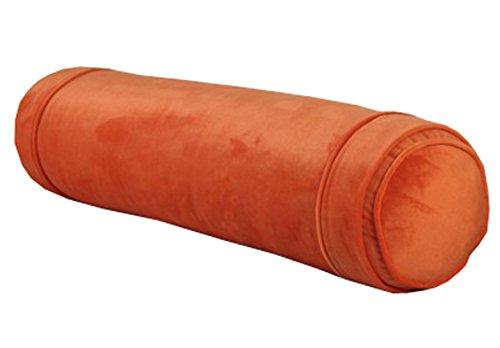 Peacewish Super Soft Crystal Cashmere Cartoon Long Cylindrical Candy Pillow Sleeping Pillow Round Cushion Pillow Detachable Wash (Orange, M) (Pillow Bolster Orange)