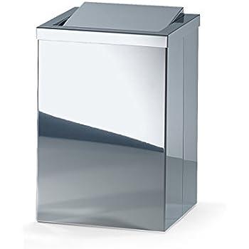 Dwba Bath Collection Dwba Square Open Top Trash Can Stainless Steel Wastebasket W O
