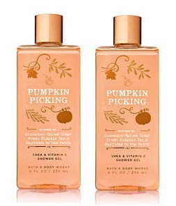 Bath and Body Works 2 Pack Pumpkin Picking Shower Gel 10 Oz.