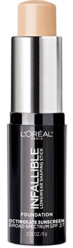 L'Oréal Paris Makeup Infallible Longwear Shaping Stick Foundation, 401 Ivory, 1 Tube