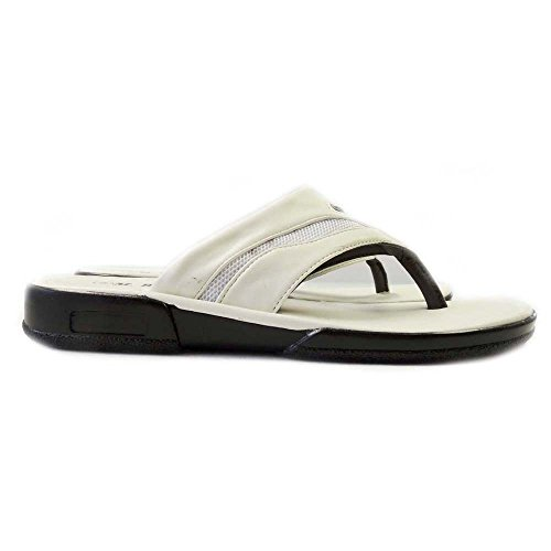 LIGHT THONGS SHOES WEIGHT SANDALS MENS FLIP WHITE FLOPS NEW 08204 COMFORT SLIDES 86wWY7