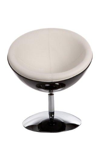 Casa Padrino Designer Drehsessel, Drehsessel, Drehsessel, Schwarz-Hochglanz Weiß Lounge Sessel - Moderner Stuhl 86d2a7