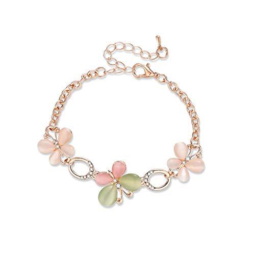 Wrist Design Charm Crystal Flower Opals Anklet Bracelets Lovely Cat Pendant Bracelets& Bangles for Ladies Statement Chain Jewelry