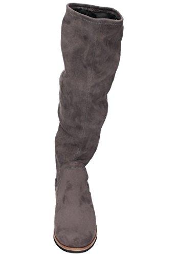 Caprice 25507, Botas para Mujer Gris (Anthra.stretch)