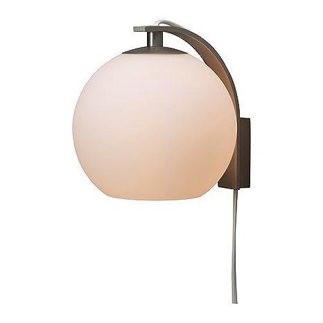 Lampada Da Parete In Acciaio Ikea Minut Alluminio L Ombrellone Vetro