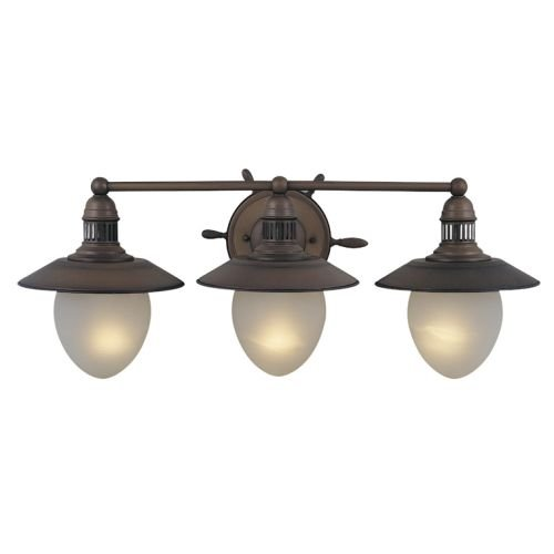 Vaxcel VL25503RC Orleans 3 Light Vanity Light, Antique Red Copper Finish (Vanity Bathroom Red)