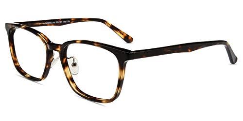 Firmoo Rectangle Blue Light Blocking Glasses Computer Eyeglasses Tortoise Shell Non Prescription Anit UV Eyewear ()