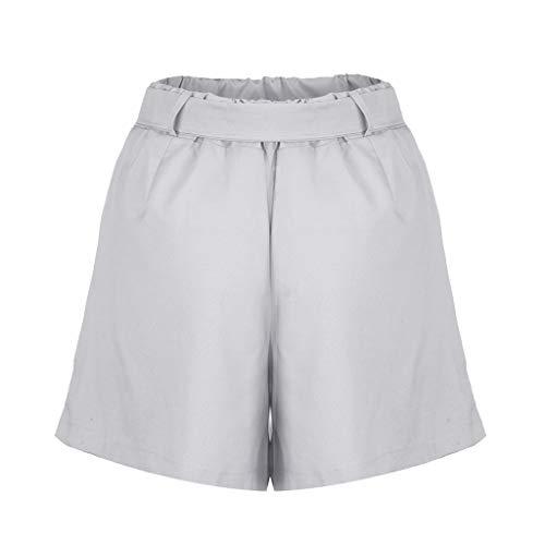 Naladoo New Womens Solid Casual Shorts Yoga Workout Shorts Elastic Sports ()