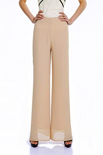 Paincc Women Ladies Vintage Loose High Waist Long Trouser...