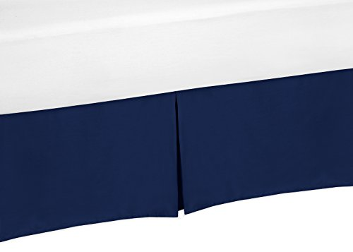 Sweet Jojo Designs Navy Blue Crib Bed Skirt forBaby Bedding Sets