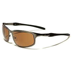 Khan New 2014 Men's Cycling Riding Sleek Sports Sunglasses-KN37468 (Gunmetal-Amber Lens)