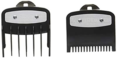 """Professional Versatile Premium Cutting Guide Comb with Metal Clip 1/2"""" &1 1/2"""" Combo Set #3354-1100-1000 for All Wahl Clippers/Trimmer"""